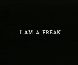 freak, text, and quotes image