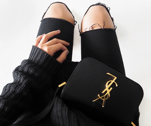 fashion, black, and YSL image