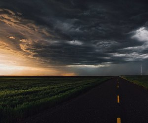 sky, road, and clouds image