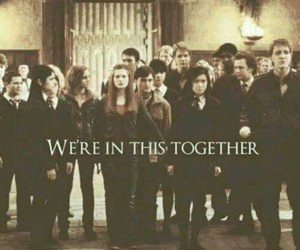 harry potter, hogwarts, and together image