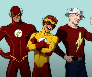 kid flash, flash, and wally west image