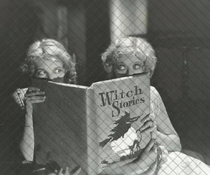 witch, book, and vintage image