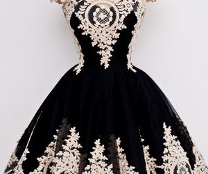 dress, black, and vintage image