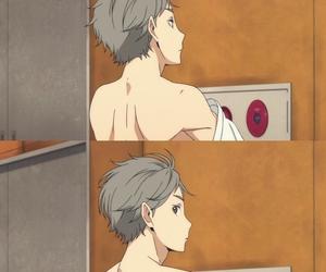 haikyuu, anime, and sugawara image