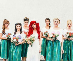 wedding, disney, and ariel image