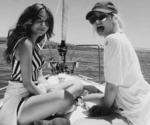 black and white, ocean, and friends image