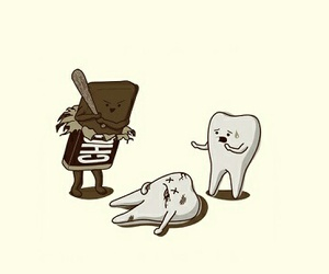 funny, chocolate, and teeth image