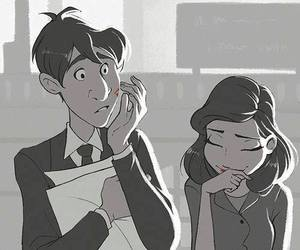 love, kiss, and paperman image