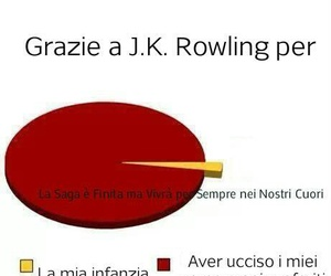 harry potter, j.k. rowling, and grafico a torta hp image