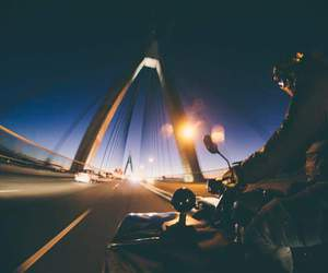 freedom, motorcycle, and night image