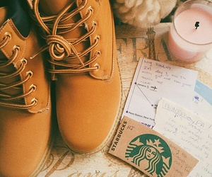 shoes, starbucks, and travel image