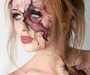 Halloween and halloween makeup image
