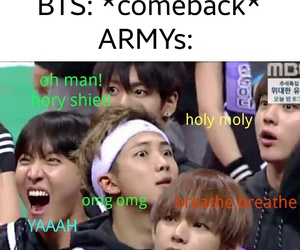 funny, comeback, and bts image