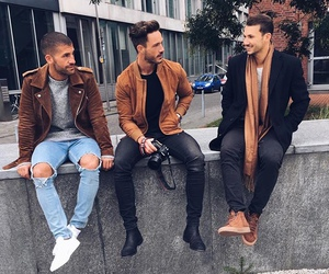 coat, jeans, and friends image