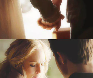 caroline, stefan, and thevampirediaries image