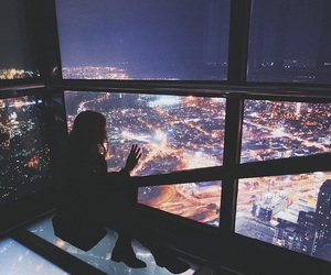 girl, city, and out image