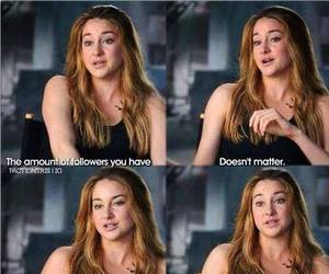 Shailene Woodley, followers, and divergent image