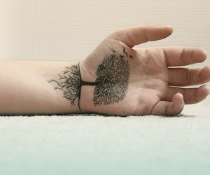 arm, roots, and arm tattoo image