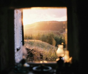window, sun, and photography image