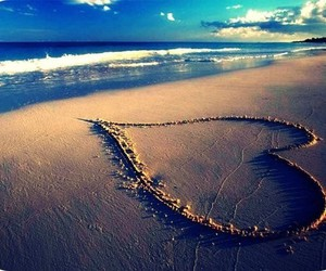 pretty, sand, and waves image