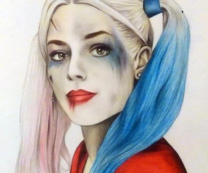 drawing, harley quinn, and margot robbie image