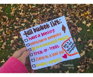 fall, quality, and bucket list image