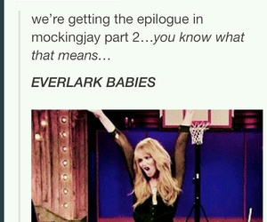the hunger games, babies, and Jennifer Lawrence image