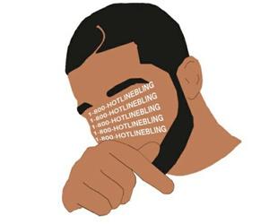 Drake and hotline bling image