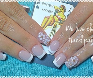 flowers, nails, and french image
