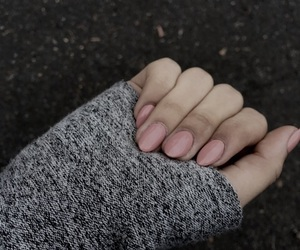 grey, nails, and fall image