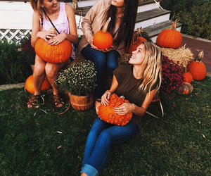 candid, fall, and girly image