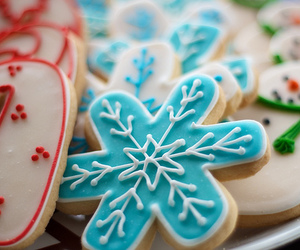 christmas cookies, food, and Cookies image