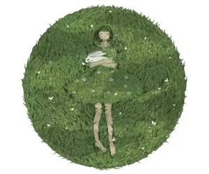girl, art, and rabbit image