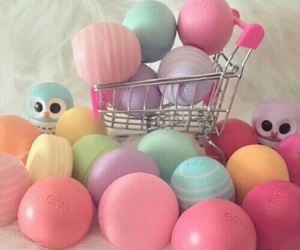 eos, makeup, and lip balm image