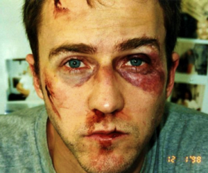 bruises, fight club, and hot guy image