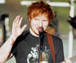 ed sheeran, ginger, and guitar image