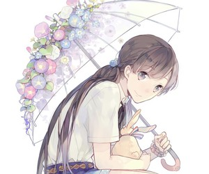 anime, girl, and umbrella image