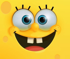 spongebob, yellow, and wallpaper image