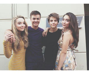 sabrina carpenter, rowan blanchard, and peyton meyer image