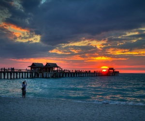 beach, beautiful, and florida image