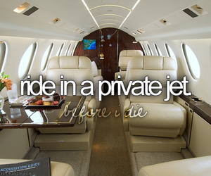 bucket list and private jet image