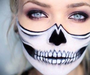Halloween, makeup, and face image
