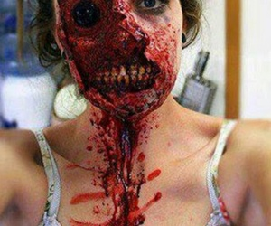 zombie, blood, and make up image