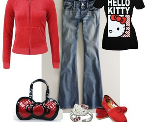 clothes, fashion, and hello kitty image