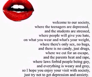 society, quotes, and depression image