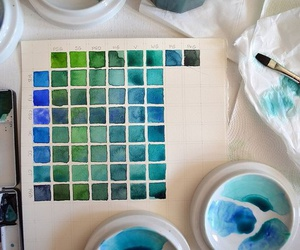 blue, art, and green image
