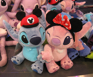 disney, stitch, and pink image