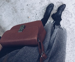 acne, bag, and dark image
