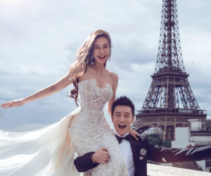 paris, wedding, and couple image