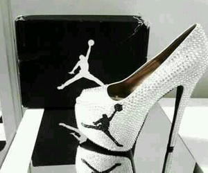 jordan, heels, and shoes image